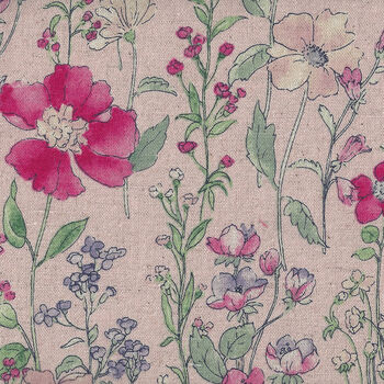 Cosmo Textiles Designed and Printed in Japan KP 9061 Col 2C Blush