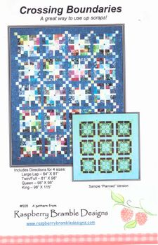Crossing Boundaries Quilt pattern by Raspberry Bramble designs