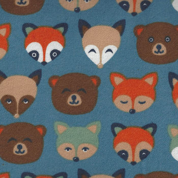 Cubby Bear Flannel by Whistler Studios 513694 Blue