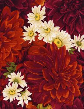 Dahlia by ChongA Hwang for Timeless Treasures  4483 colour Dahlia