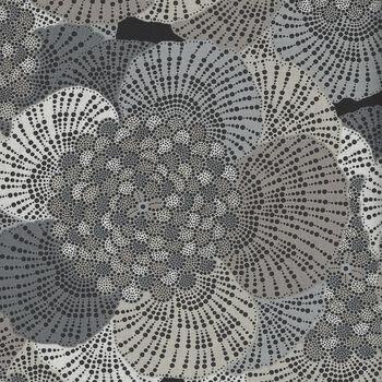 Dolce Vita By Deborah Edwards for Northcott Fabrics 22772 Colour 99 CharcoalTaupeGrey