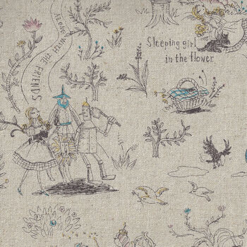 Dorothy And The Tin Man Japanese Cotton Linen from Miyako Kawagachi MY033 ColA