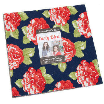 Early Bird Layer Cake Precut 42 10inch Squares by Bonnie and Camille Moda 55190LC