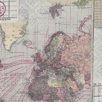 Eclectic Elements by Tim Holtz Memoranda Three PWTH103Multi PatternWorld Map