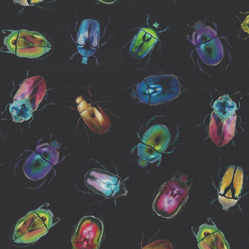 Electric Garden By Hoffman Fabrics Digital HQ4523 667 LightBright Beetles