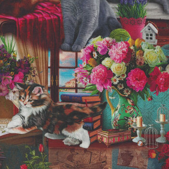 Elegant Cat From Sykel Image World Digital Print Patt10623 Vignettes 162