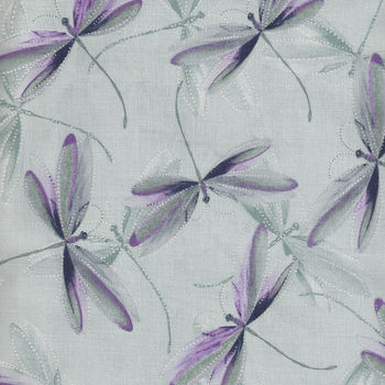 Essence Of Pearl by Maria Kalinowski For Kanvas Fabrics Pattern Dragonfly Dream CP8732