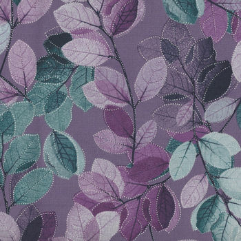Essence Of Pearl by Maria Kalinowski For Kanvas Fabrics Pattern Sheer Leaves CP8727