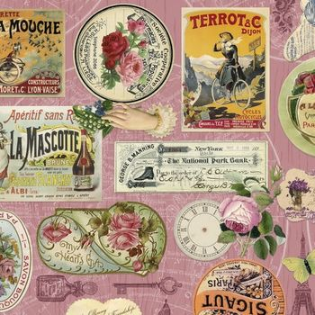 Etiquette Shabby Chic for Indigo Fabrics from Spain IN3435301 60150cms Wide