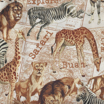Expedition By Whistler Studios for Windham Fabrics 51631X Parchment Animals