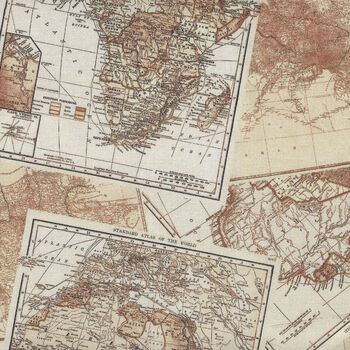 Expedition By Whistler Studios for Windham Fabrics 51632X World Map