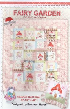 Fairy Garden Cot Quilt and Cushion from Bronwyn Hayes