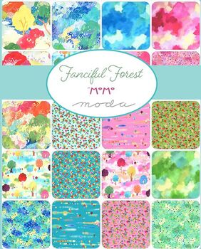 Fanciful Forest Layer Cake by Momo For Moda Fabric 42 x 10 Squares 33570LC