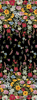 Field Of Dreams from Benartex Wild Flower Border CM8932 Black