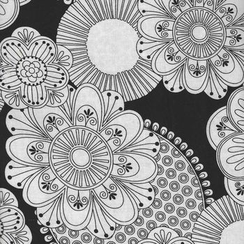 Floral Fantasy by Mouse House with Michael Miller 7221 Black