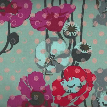 Floral Retrospective by Anna Maria Horner for Free Spirit PWAHO50 PlumX Raindrops Poppies