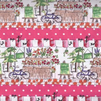 Florist Delight cotton fabric col pink