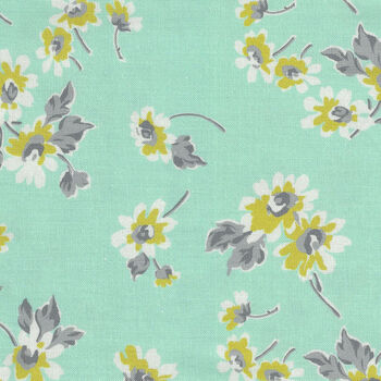 Flour Garden by Linzee McCray for Moda Fabrics M23321 14 Duck Egg