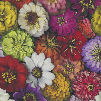 Flower Power by Leto For Clothworks Fabrics Y305 Color 55 Multi