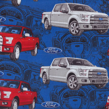 Ford Motor Co Licensed Fabric Pattern 13009