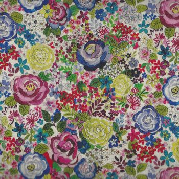 French Stof Rosebud 64andquot160cms Wide Cotton Fabric LS8493001DP Multico