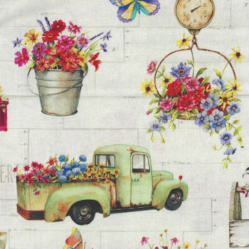 Fresh Country for PandB Textiles 00209 Multi Digital