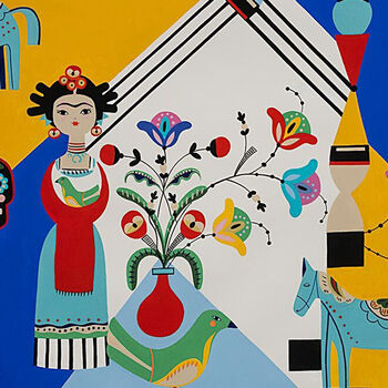 Frida Carita From Alexander Henry Fabrics Folklorico 8808A