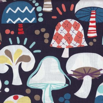 Fun Mushrooms by Hoodie Crescent for Newcastle Fabrics
