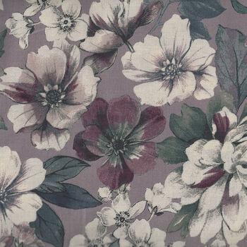 Gentle Flowers From Quiltgate Fabrics GF513011D Plum