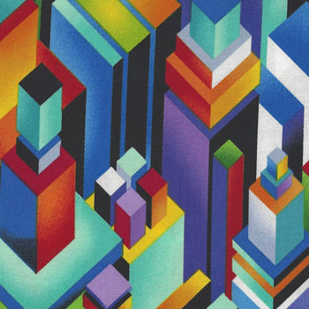 Geotopia By Colour Principle For Henry Glass Fabrics Pattern 2382 Colour 99 Multi