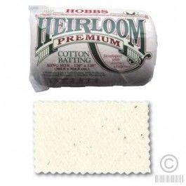HOBBS Heirloom Premium Cotton Batting King Size 120andquotx120andquot