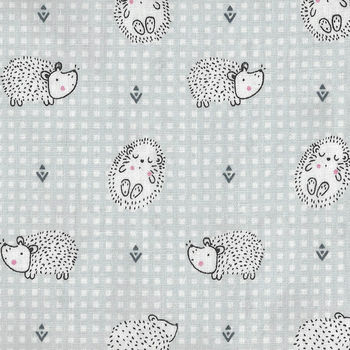 Haori Cotton Fabric M190041 BlueHedgehog