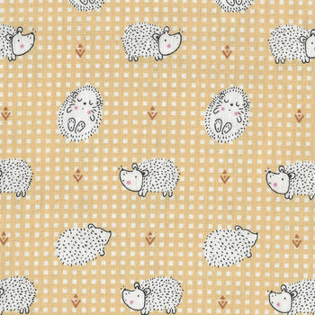 Haori Cotton Fabric M190044 LemonHedgehog