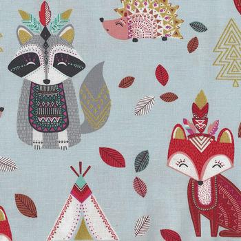 Happy Habitat Cotton Fabric by Michael Miller CM8661IcexD Blue