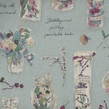 Herbarium Collection by Lecien CottonLinen 40988 Colour 70 Duckegg Blue