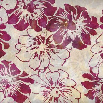 Hoffman Bali Batik Graphic Floral HQ2136 417 Rosehips