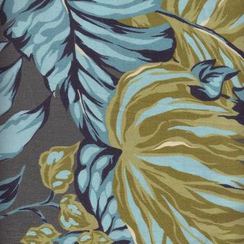 Hoffman California andquotCanopy Coveandquot Cotton Fabric M5027 092 Slate