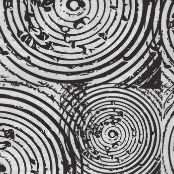 Homeward By Natalie Barnes for Windham Fabrics 508152 BlackWhite Circles