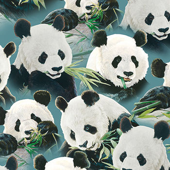 Imperial Panda Panel Quilting Treasures 164924979Q