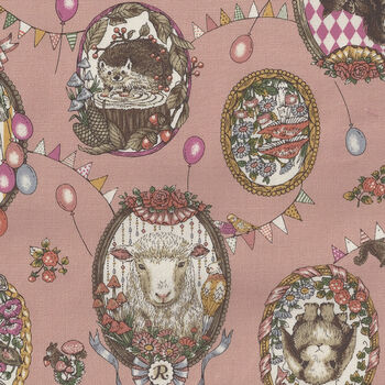 In The Forest  From KOKKA Fabrics Cotton LGA26110 1 B11 Pink