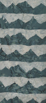 Island Batik 121709725 Blue Grey Mountains