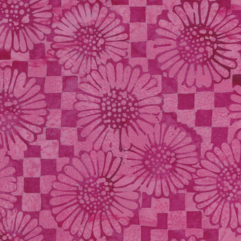 Island Batik Cotton Fabric 121930315 Col Check Sunflower