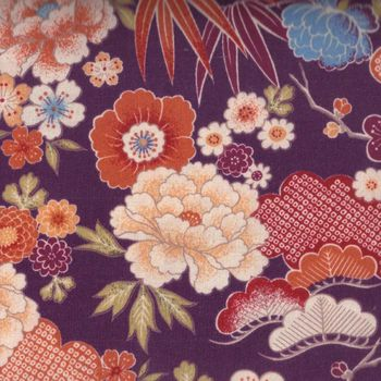 Japanese Cotton Quilting Fabric Plum