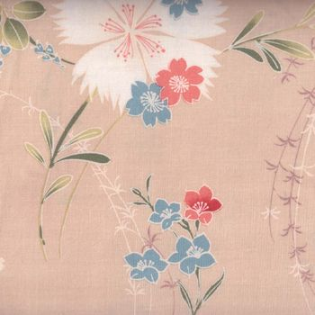 Japanese Cotton Quilting Fabric  andquotCarnationandquot