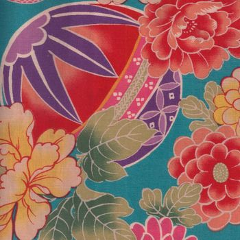 Japanese Cotton Quilting Fabric andquotTemariandquot