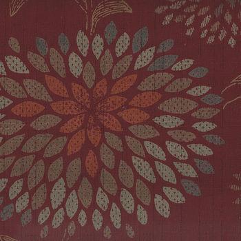 Japanese Textured Cotton KTS6437 Colour A Oxblood