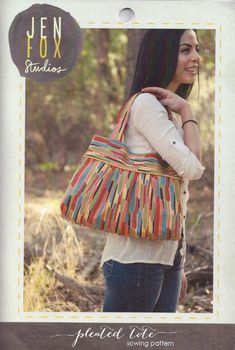 Jen Fox Studios Pleated Tote Bag Pattern
