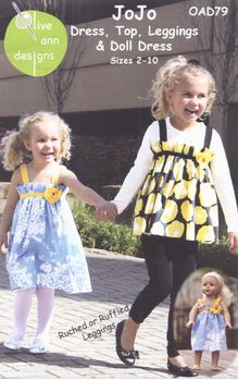 JoJo Dress Leggings and Doll Dress Pattern from Olive Ann Designs