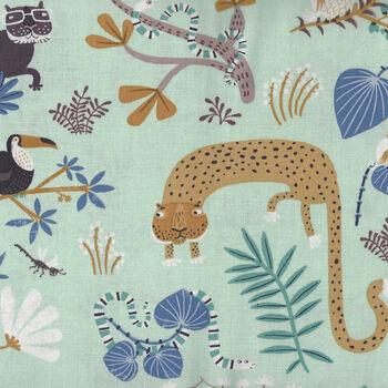 Jungle Jive By Asa Gilland For Clothworks Fabrics Y3111 Color 100 Duckegg