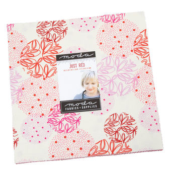 Just Red Layer Cake By Zen Chic Precut 42 10inch Squares For Moda 1700LC